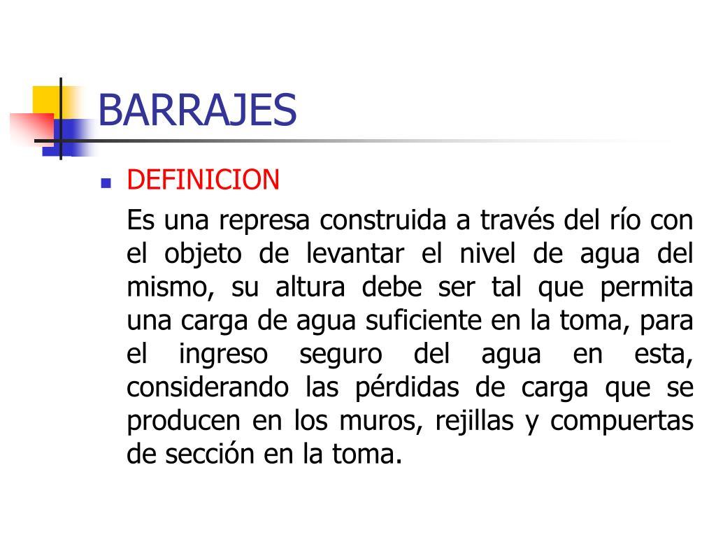 BARRAJES