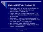 national ehr s in england 3