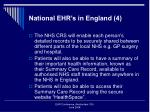 national ehr s in england 4