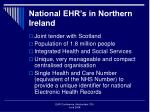 national ehr s in northern ireland