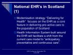national ehr s in scotland 1
