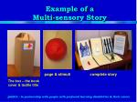 example of a multi sensory story