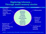 exploring literacy through multi sensory stories