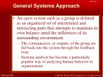 general systems approach