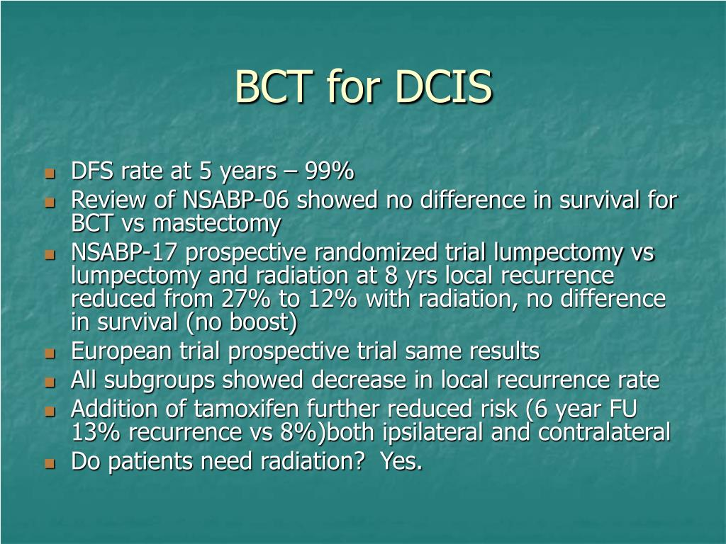BCT for DCIS