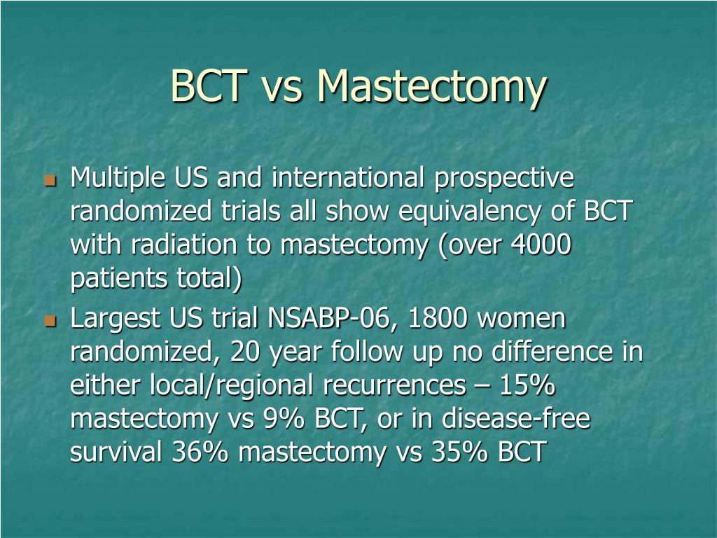 BCT vs Mastectomy