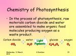chemistry of photosynthesis