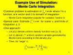 example use of simulation monte carlo integration