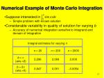 numerical example of monte carlo integration