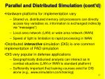 parallel and distributed simulation cont d13