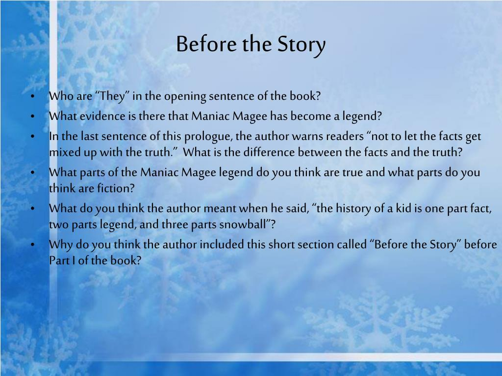 Before the Story