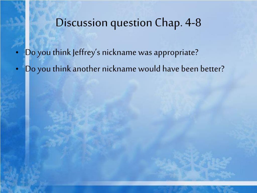 Discussion question Chap. 4-8