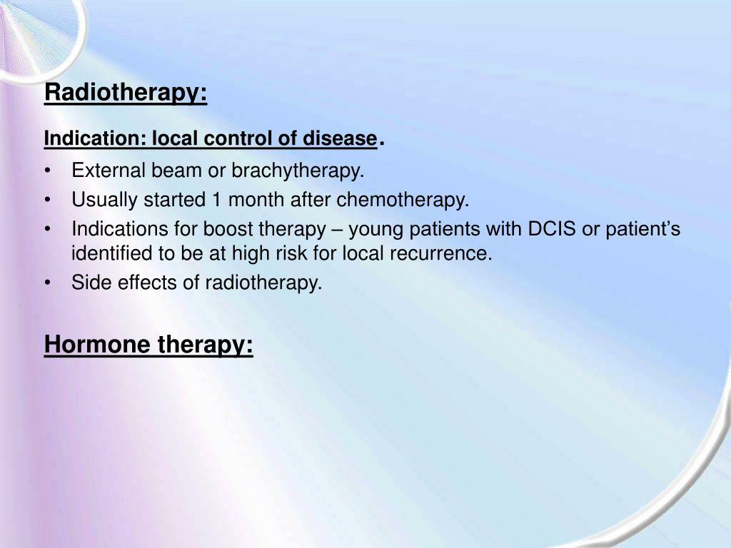 Radiotherapy: