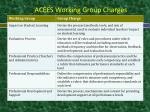 acees working group charges