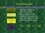 final rating scale