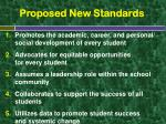 proposed new standards
