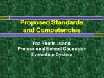 proposed standards and competencies