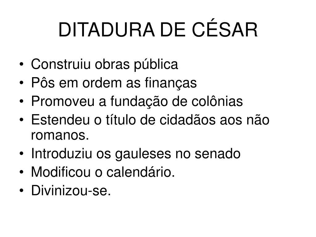 DITADURA DE CÉSAR