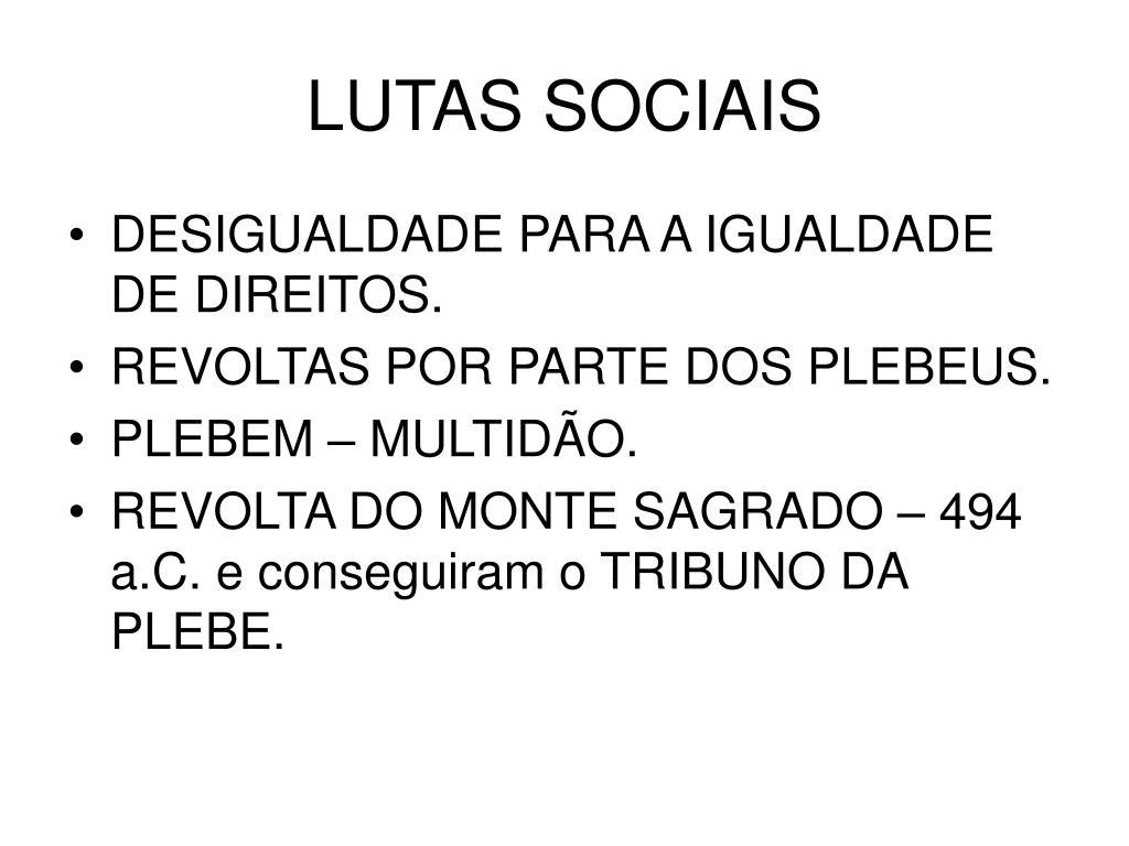 LUTAS SOCIAIS