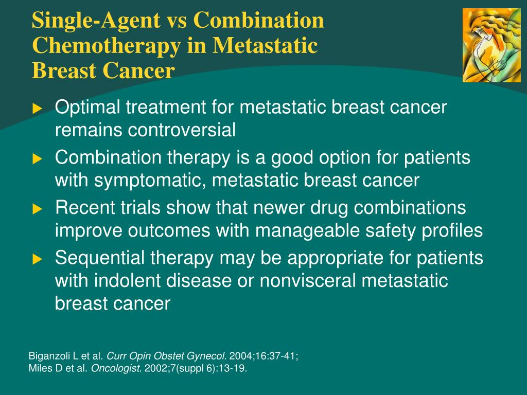 Single-Agent vs Combination Chemotherapy in Metastatic