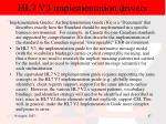 hl7 v3 implementation drivers