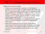 hl7 v3 implementation drivers40