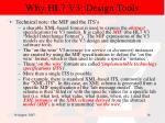 why hl7 v3 design tools15