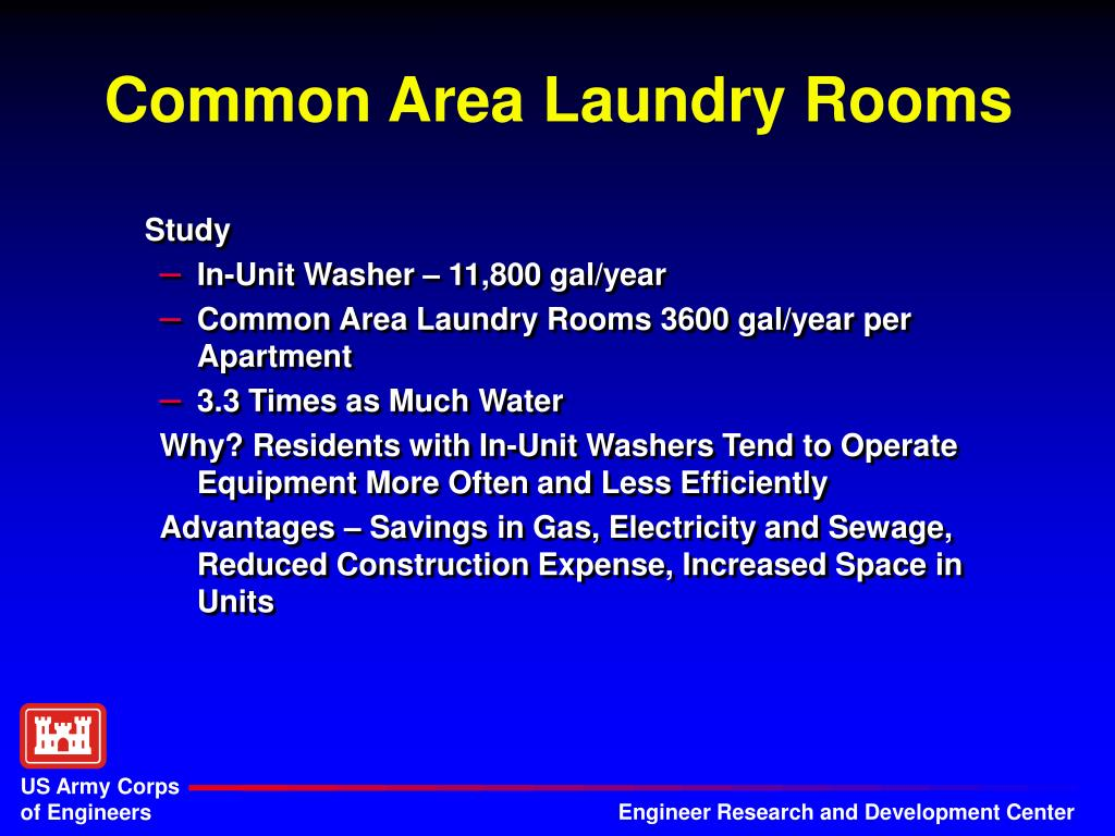Common Area Laundry Rooms