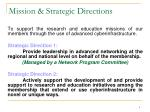 mission strategic directions