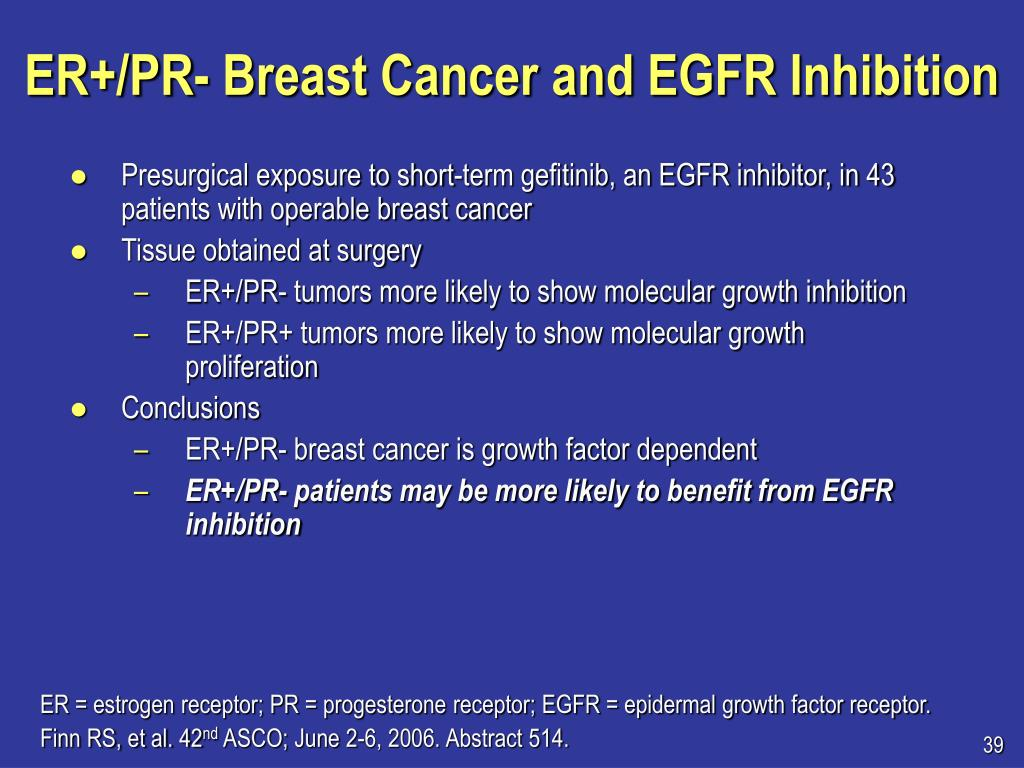ER+/PR- Breast Cancer and EGFR Inhibition