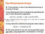 two dimensional arrays28