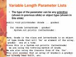 variable length parameter lists19