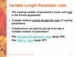variable length parameter lists23