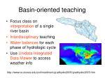 basin oriented teaching
