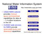 national water information system