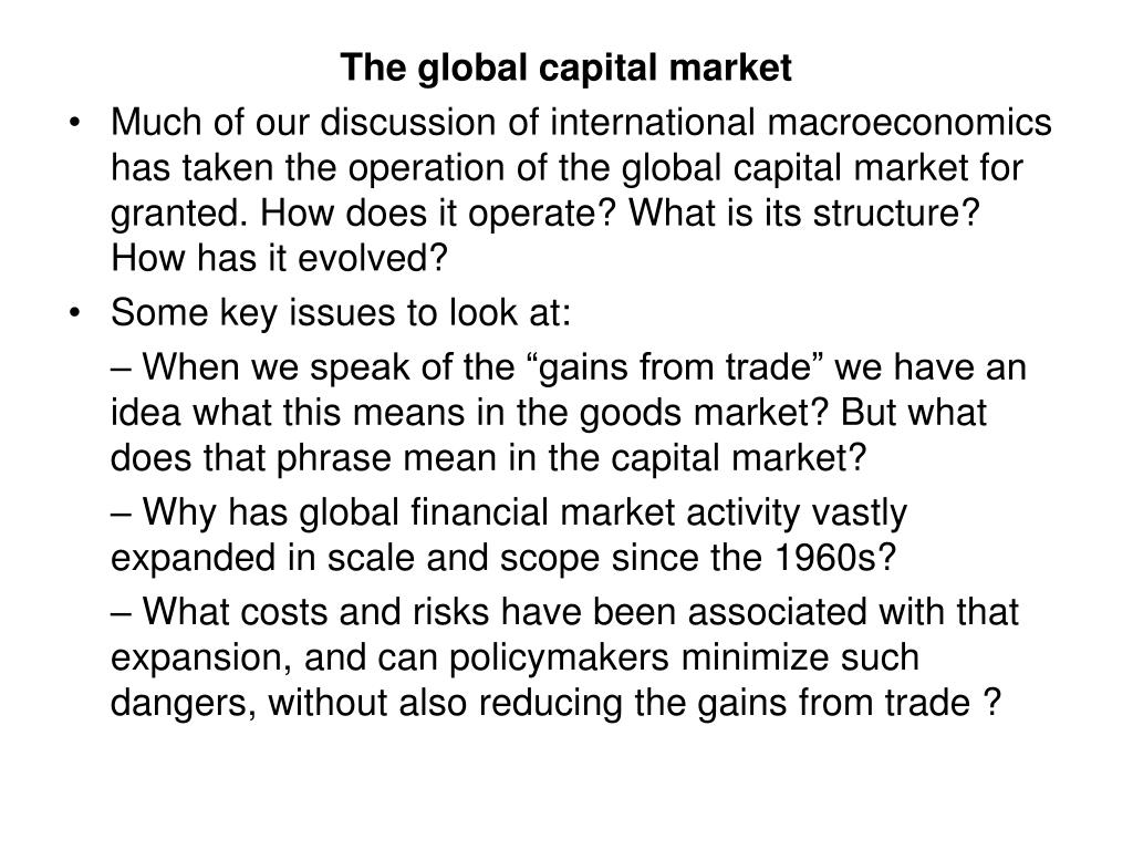 The global capital market