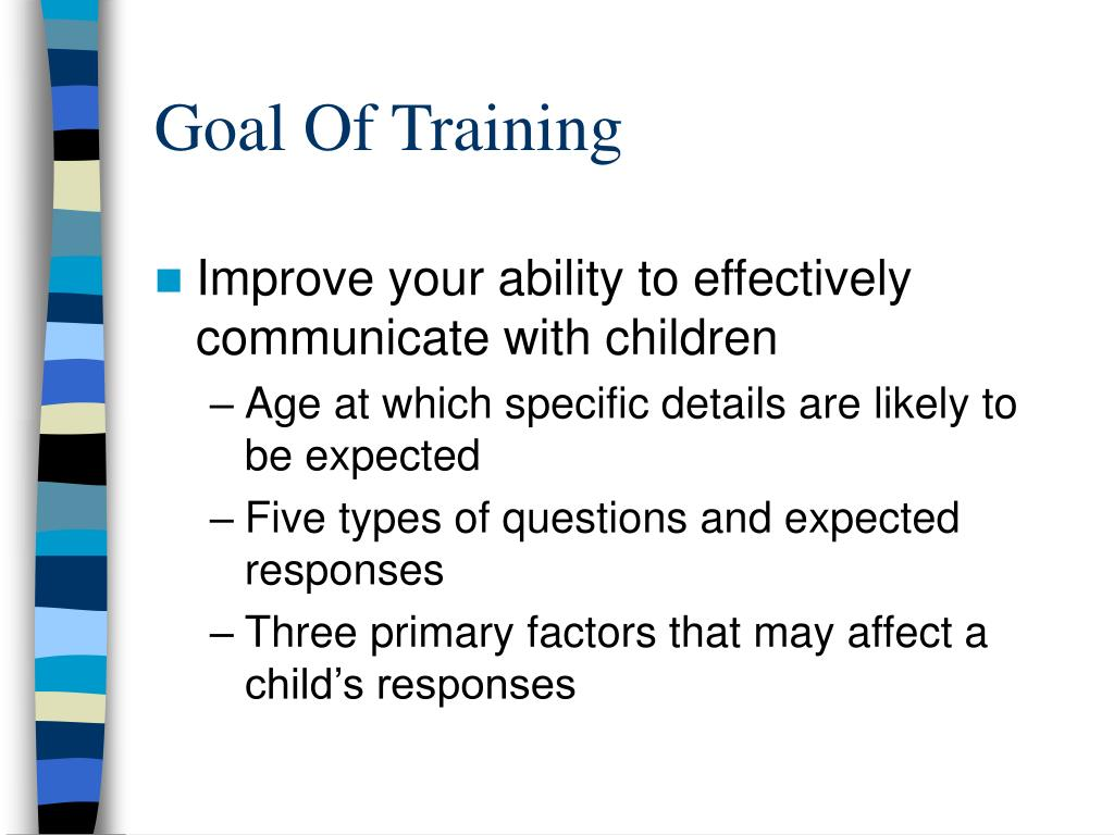 Goal Of Training