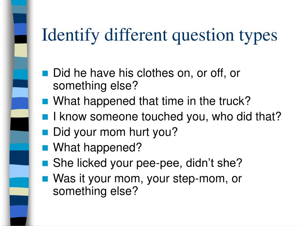 Identify different question types