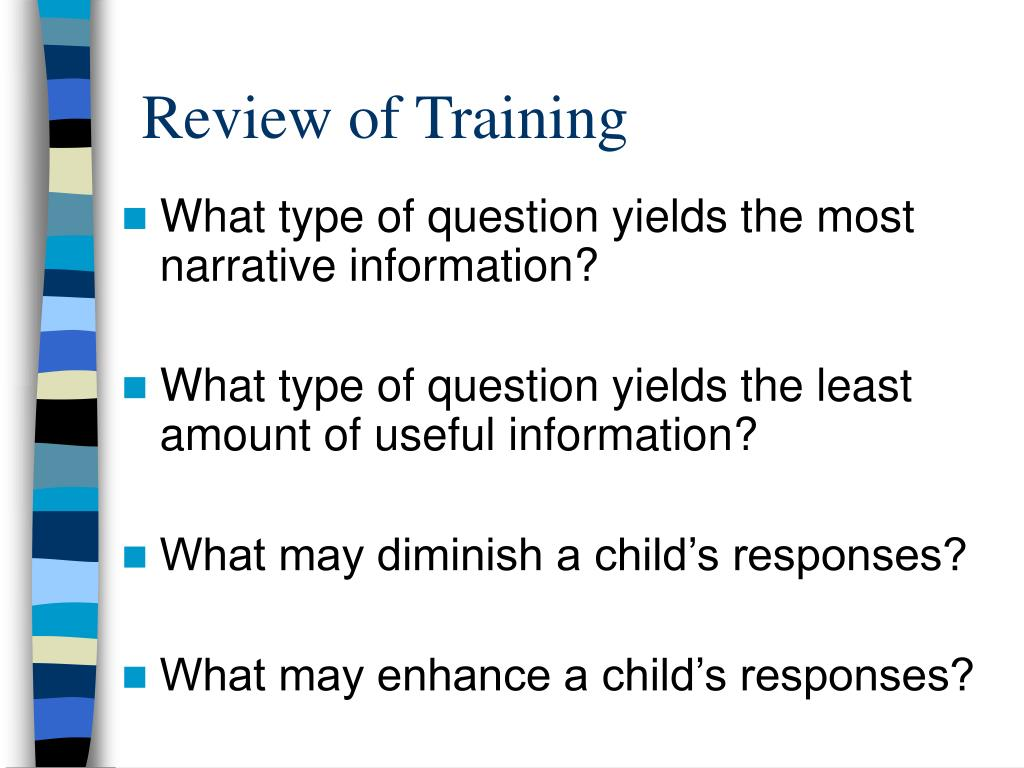 Review of Training
