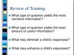 review of training11
