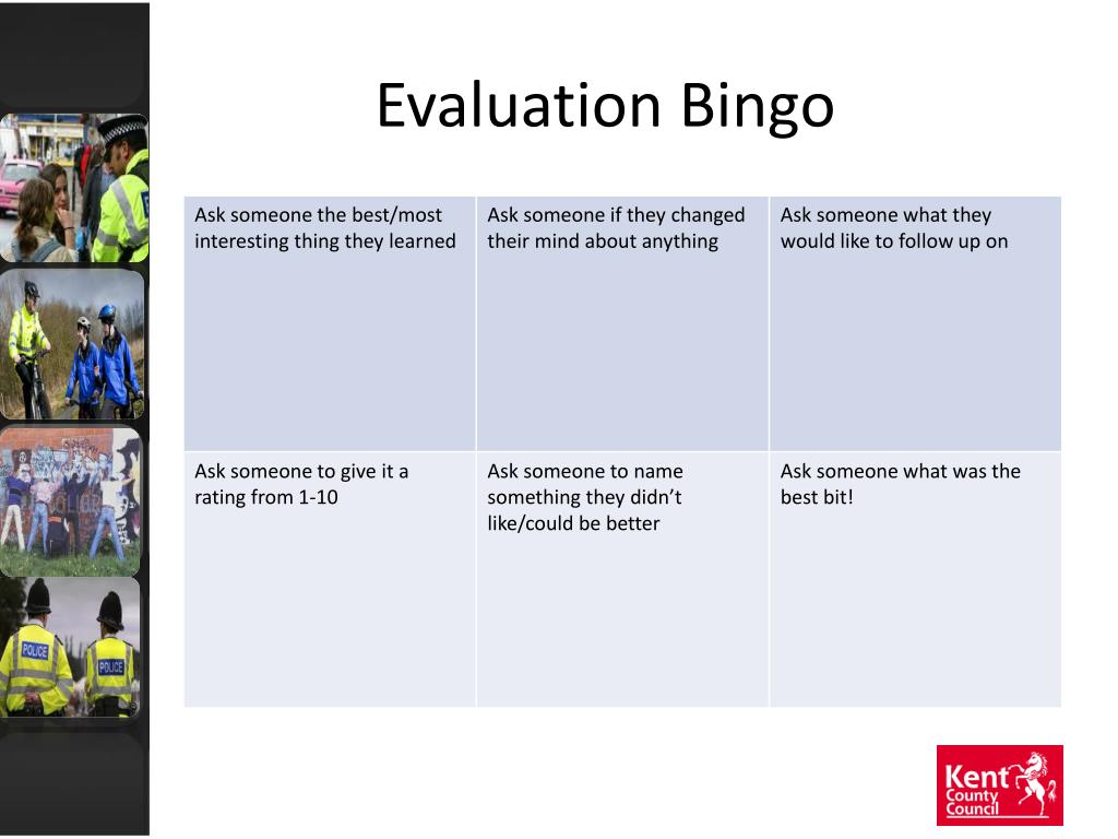 Evaluation Bingo
