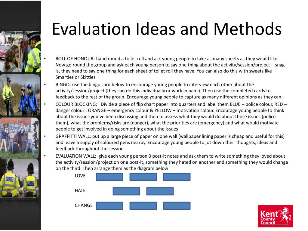 Evaluation Ideas and Methods