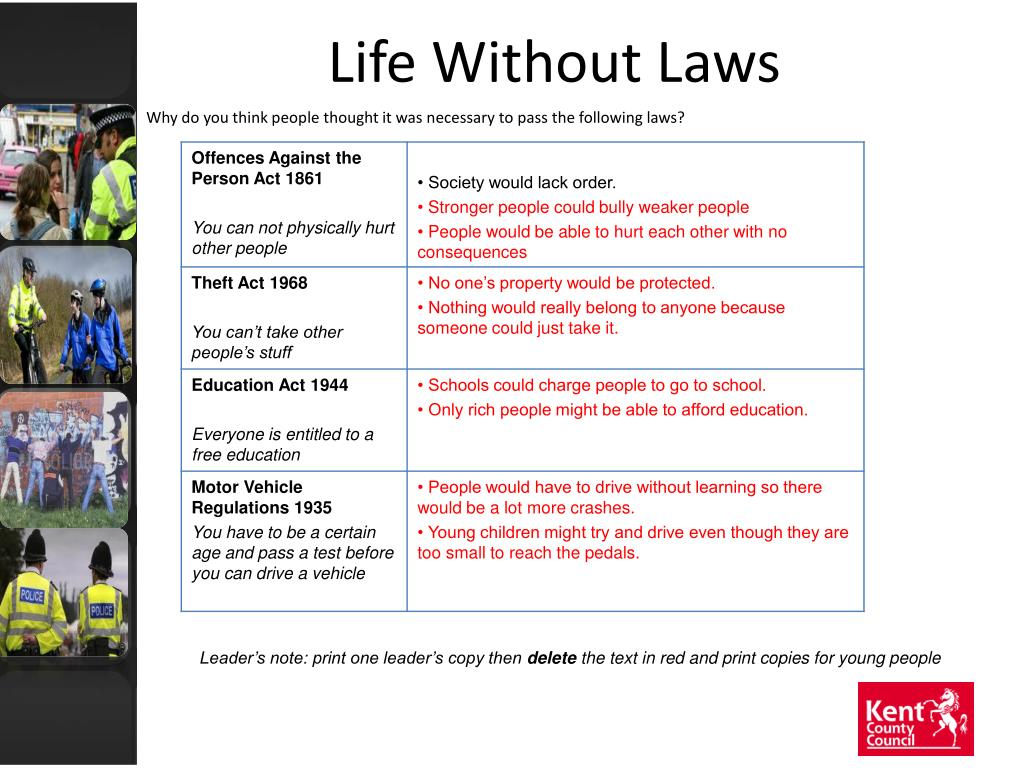 Life Without Laws