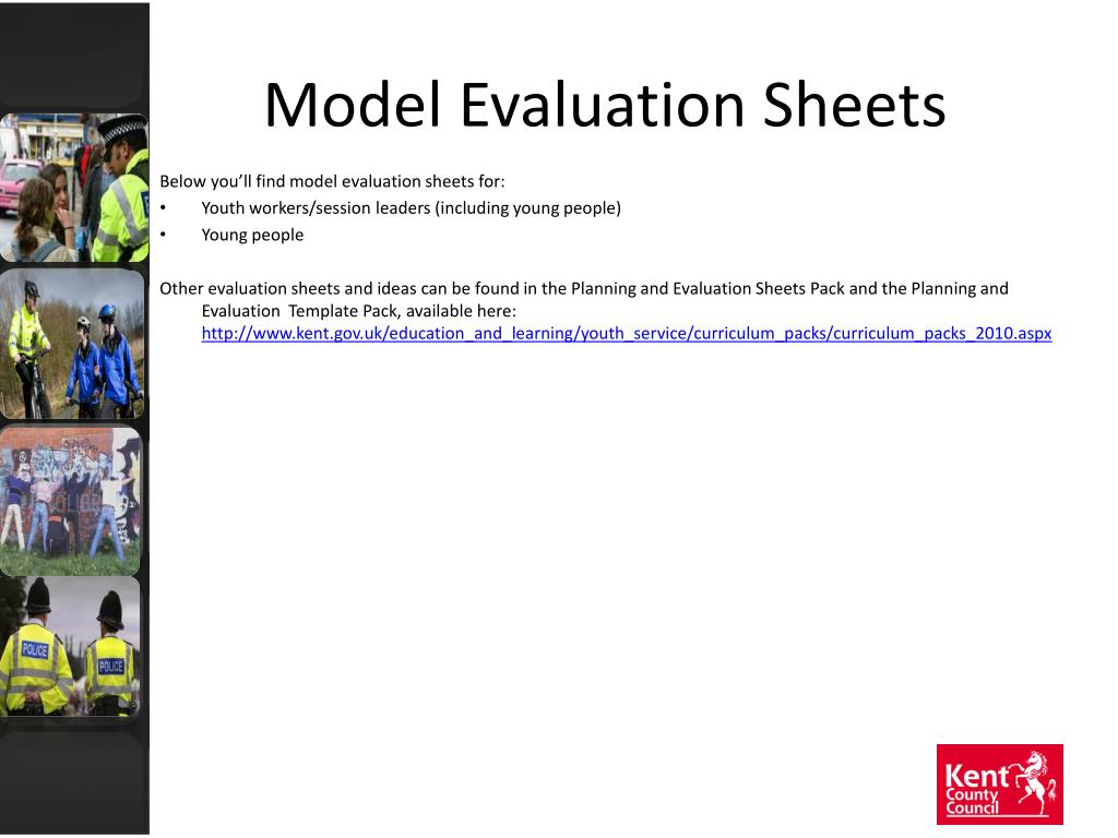 Model Evaluation Sheets