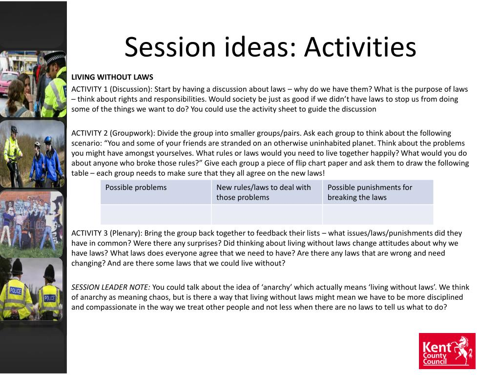 Session ideas: Activities