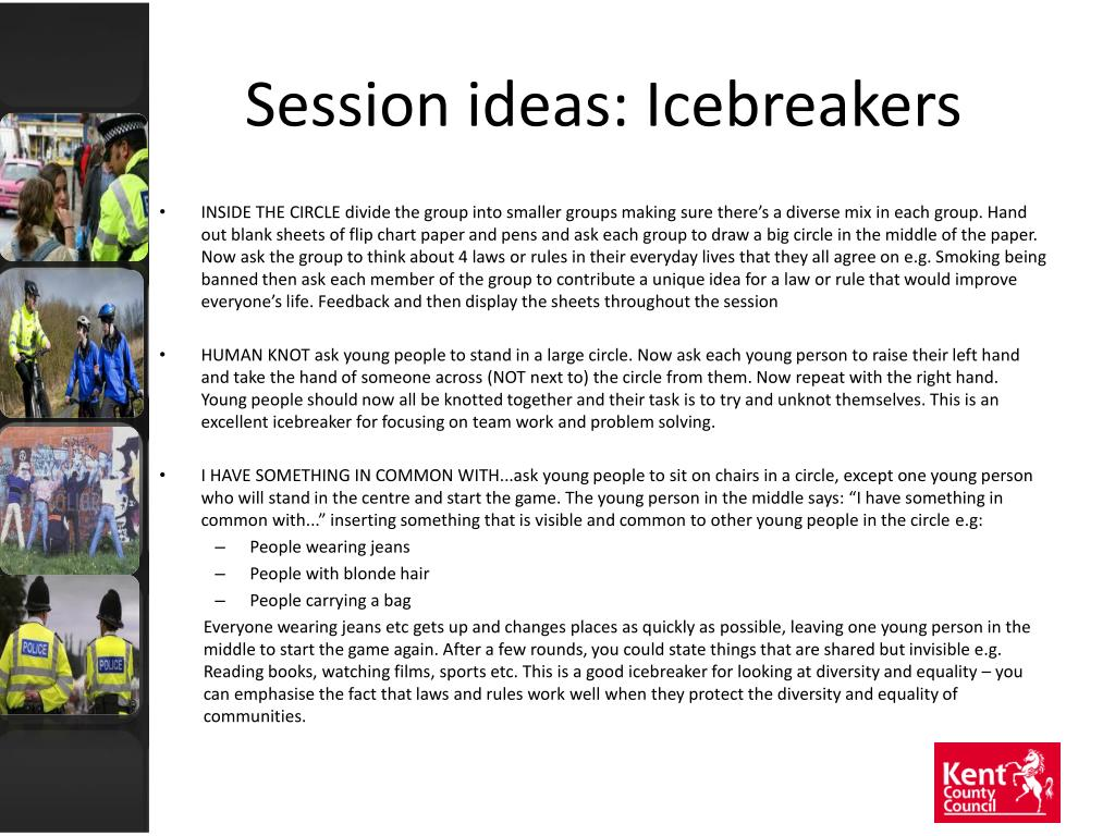 Session ideas: Icebreakers