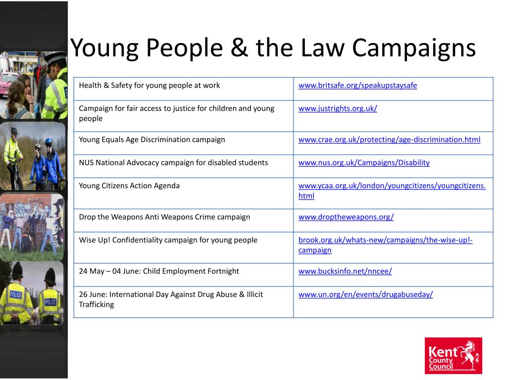Young People & the Law Campaigns
