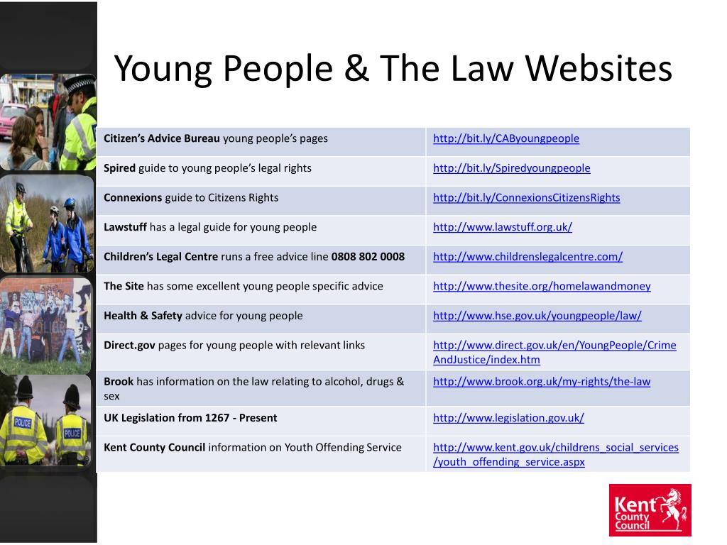 Young People & The Law Websites