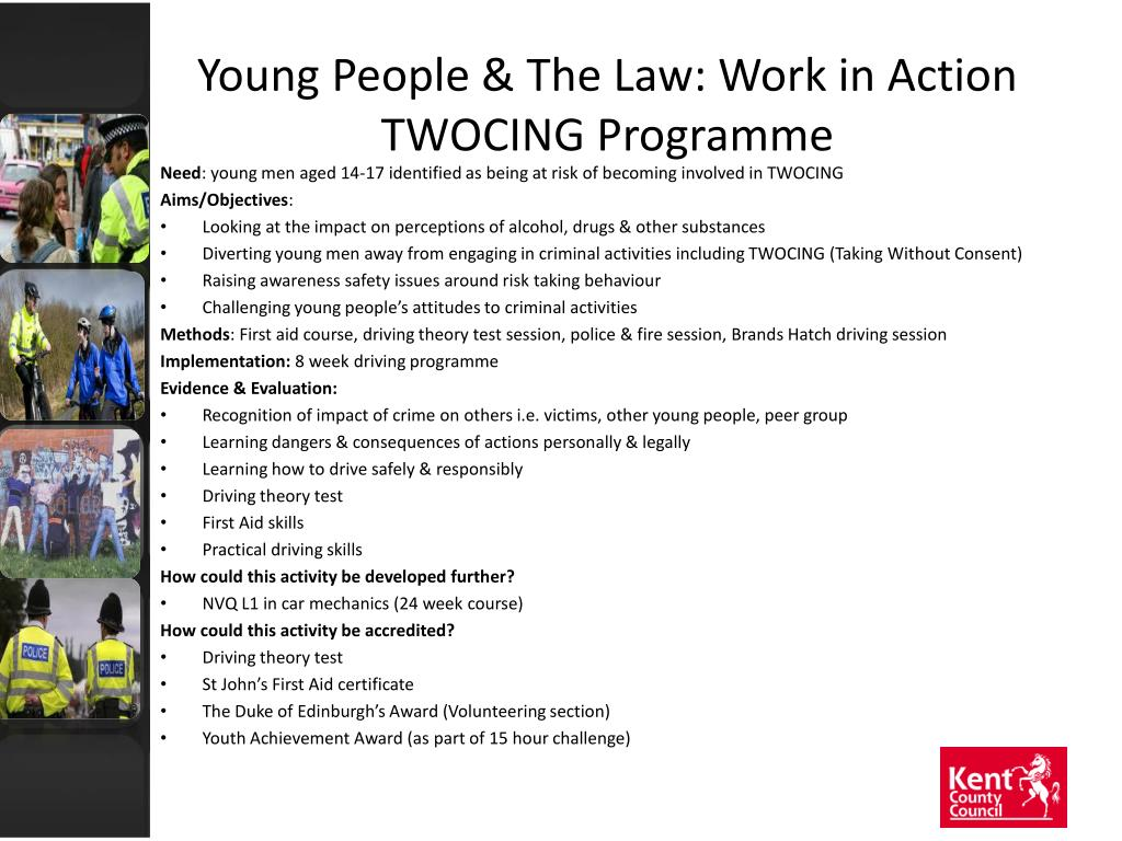 Young People & The Law: Work in Action