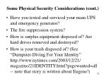 some physical security considerations cont